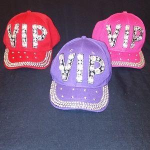 New 3 Rhinestone VlP caps